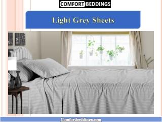 Super Soft Light Grey Sheets