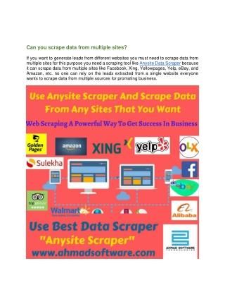 Scraper data from amazon using Anysite Scraper