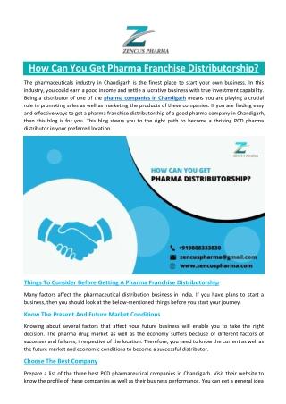 How Can You Get Pharma Franchise Distributorship?