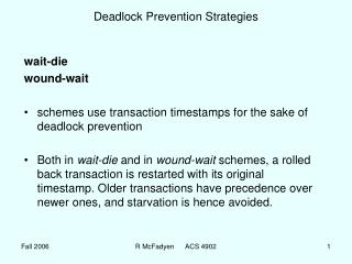 Deadlock Prevention Strategies