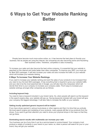 6 Ways to Get Your Website Ranking Better