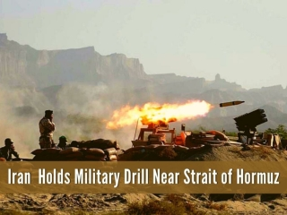 Iran holds military drill near Strait of Hormuz