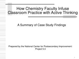 How Chemistry Faculty Infuse Classroom Practice with Active Thinking