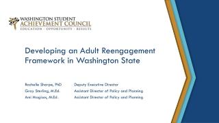 Developing an Adult Reengagement Framework in Washington State