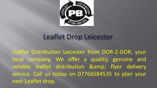 Leaflet Drop Leicester