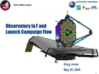 Observatory I&T and Launch Campaign Flow