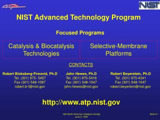 Catalysis & Biocatalysis Technologies