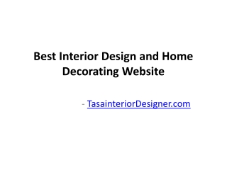 Best Interior Design and Home Decorating Website