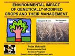Peter Motavalli Environmental Soil Science Program Email: motavallipmissouri