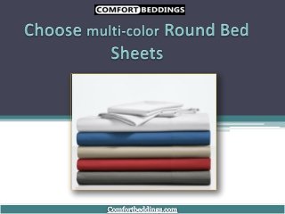 Choose various color Round bed sheets