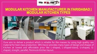 Modular Kitchen Manufacturer in Faridabad   Modular Kitchen Types