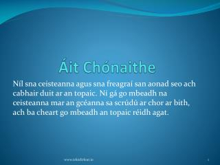 Áit Chónaithe