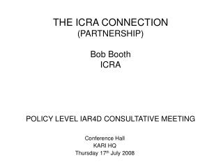 POLICY LEVEL IAR4D CONSULTATIVE MEETING
