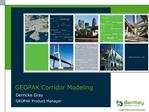 GEOPAK Corridor Modeling
