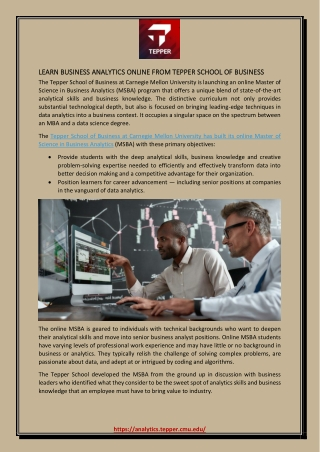 Learn Business Analytics Online from Tepper School of Business