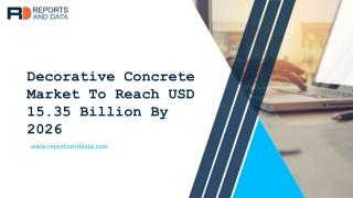 Decorative Concrete Market Application To 2027