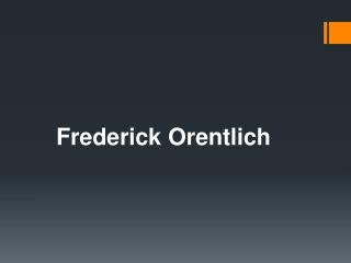 Frederick Orentlich