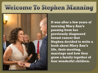 Welcome To Stephen Manning