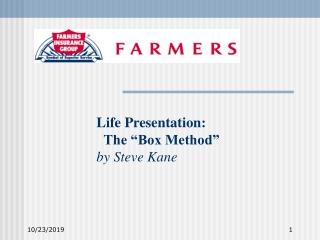 "Life Presentation: The ""Box Method"" by Steve Kane"