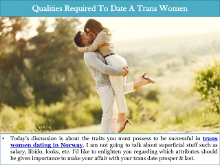 Qualities Required To Date A Trans Women