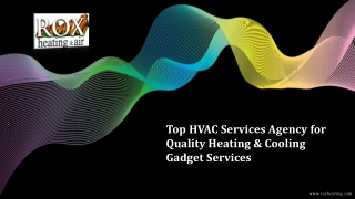 Top HVAC Services Agency for Quality Heating & Cooling Gadget Services