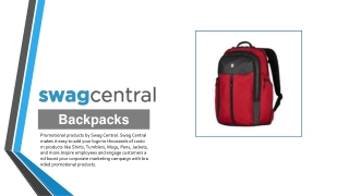 Customized Backpacks - Swag Central
