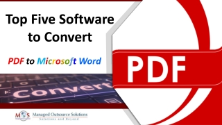 Top Five Software to Convert PDF to Microsoft Word