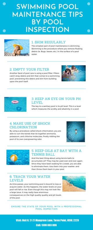 Swimming Pool Maintenance Tips by Pool Inspection