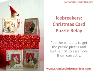 Icebreakers: Christmas Card Puzzle Relay