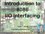 Introduction to 8086  I
