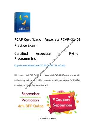 PCAP Certification Associate PCAP-31-02 Practice Exam Killtest