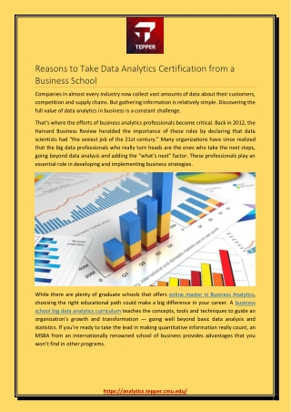 Reasons to Take Data Analytics Certification from a Business School