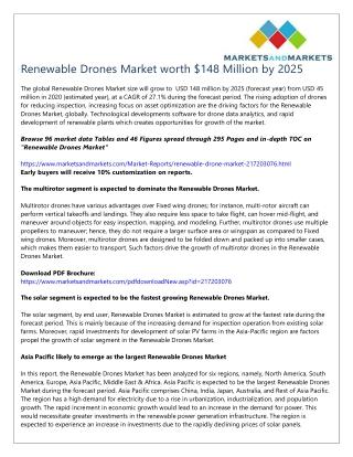 Renewable Drones Market worth $148 Million by 2025