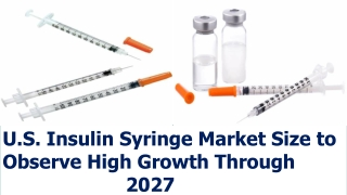 U.S. Insulin Syringe Market Size to Observe High Growth Through 2027
