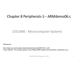 Chapter 8  Peripherals-1--  ARMdemo06.c