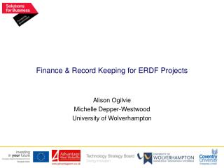 Finance & Record Keeping for ERDF Projects