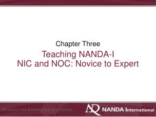 Teaching NANDA-I  NIC and NOC: Novice to Exper t
