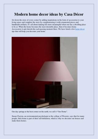 Modern home decor ideas by Casa Décor