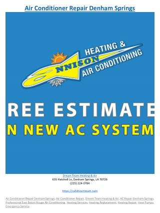 Air Conditioner Repair Denham Springs