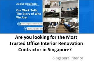 Office Interior Renovation Contractor in Singapore