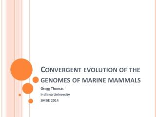 Convergent evolution of the genomes of marine mammals