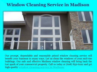 Window Cleaning Service in Madison
