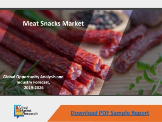 Meat Snack Market - Current Trends, 2026
