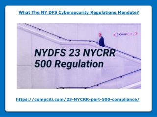 What The NY DFS Cybersecurity Regulations Mandate