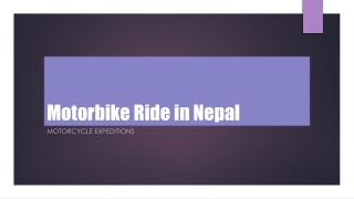 Motorbike ride in Nepal