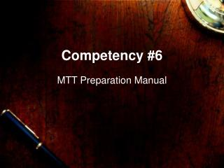 Competency #6