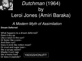 Dutchman 1964 by  Leroi Jones Amiri Baraka
