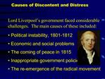 Causes of Discontent and Distress