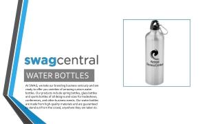 Custom Water Bottles Online - Swag Central