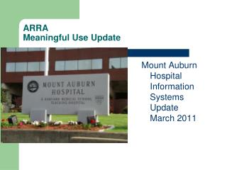 ARRA Meaningful Use Update